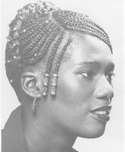 Natural Hairstyle cornrows by Riqui