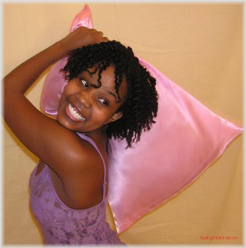 Pillow case for natural hair