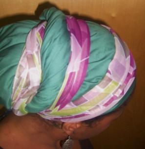 Green Purple headwrap