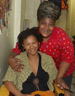 braider at African Braiding Shop in Harlem New York