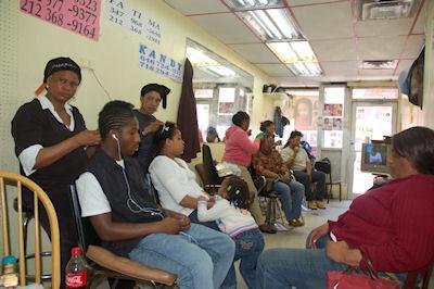 African Braiding Shop in Harlem New York