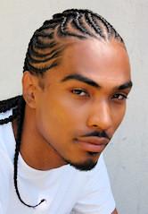 Black man with Natural Hair Cornrows
