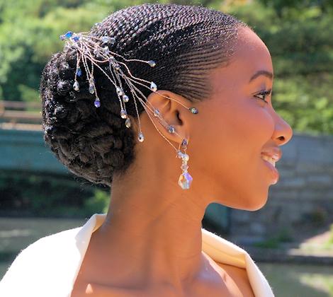 natural hair bridal style