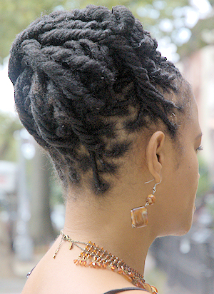 Natural Locs Hairstyle - Back View