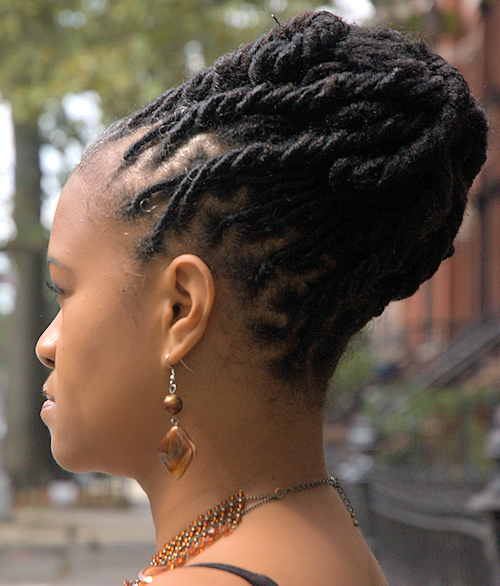 Natural Locs Hairstyle - Side View