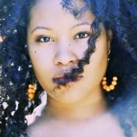 natural hair curls of America's next Natural Model Ebony