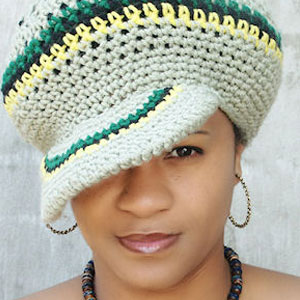 Black Woman with a Hat with Rasta Colors