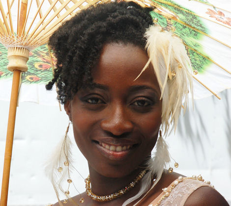 Bridal hairStyles for black women with Natural Hair