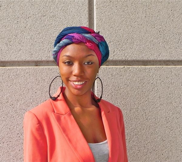 Headwraps are not just a quick fix for a bad hair day. Colorful scarfs intricately wrapped around.