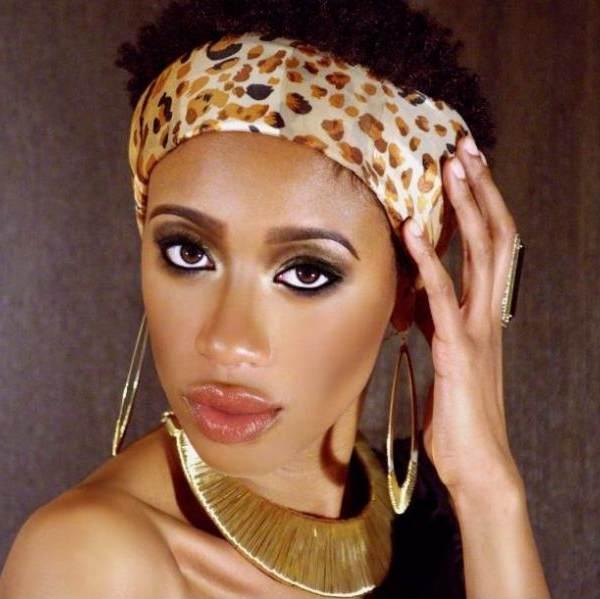 Jalita's natural Hair and Makeup by Iman