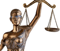 Lady Justice of America's Next Natural Model