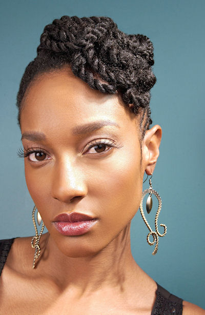 Cornrows natural hairstyle for America's Next Natural Model 2010