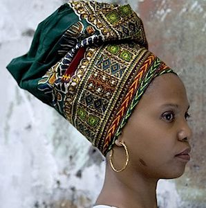 Pre-fab headwrap from Guadeloupe