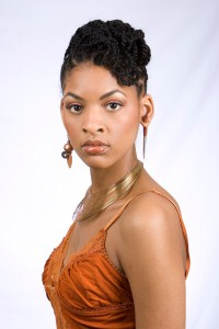 natural hairstyle updo