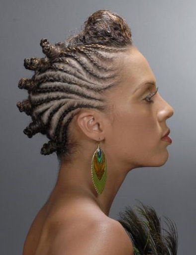Bantu knot Hairstyle by Locs of Nu Hair Salon