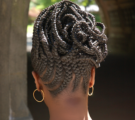 natural hair bridal style lurie