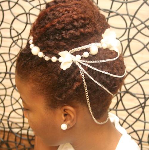 Tiffany's Bridal Natural Hairstyle
