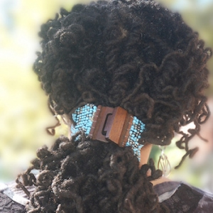 Long curled dreadlocks