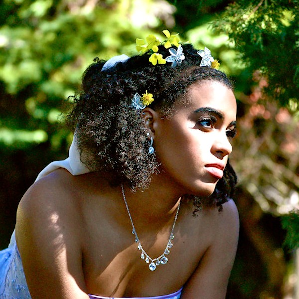 Natural Hair bridal style jayme