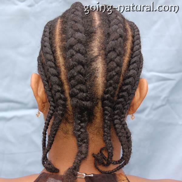 Natural hair in Cornrows