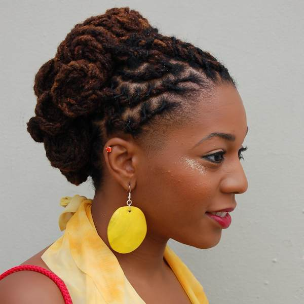 dreadlocks styled for natural hair show 07