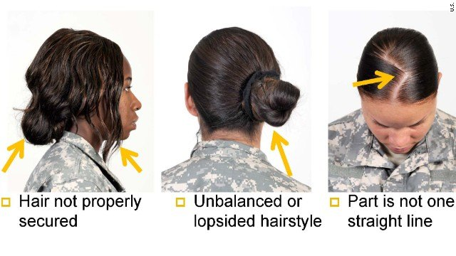 US Army Rules for Natural Hair