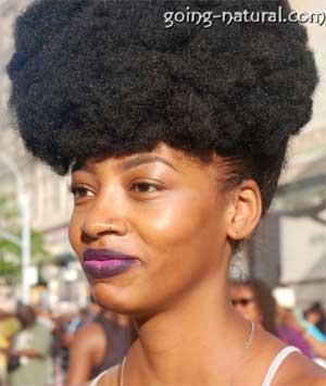 Dense 4C Natural hair Styled