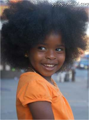 Little girl with big natural hair