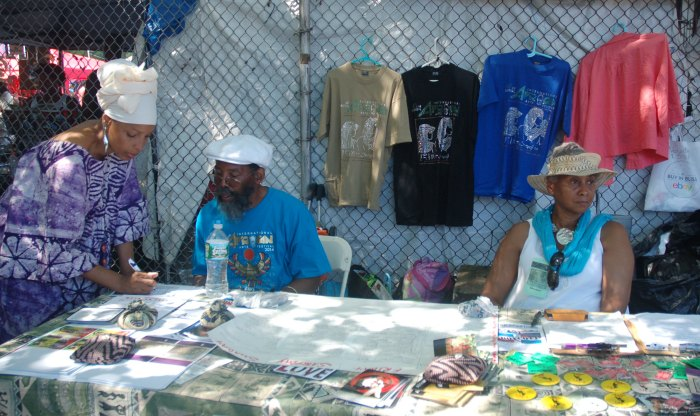 Volunteers at the African Festival