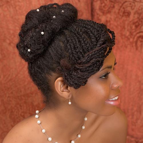 Farah's Natural Bridal Style