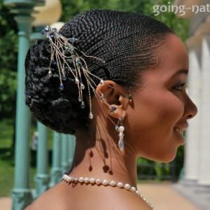 Bridal style for natural hair
