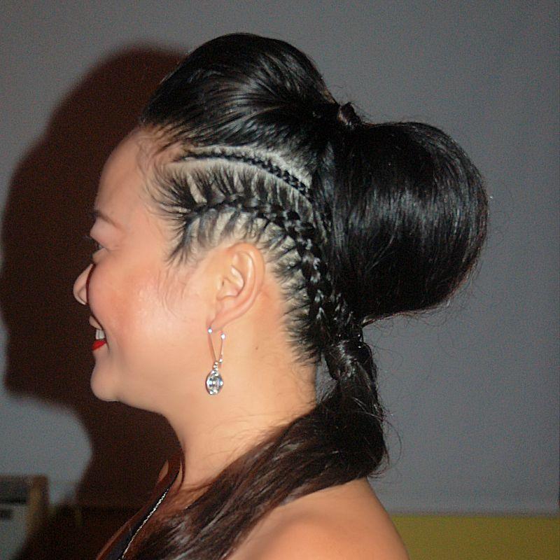 cornrows onstraight hair