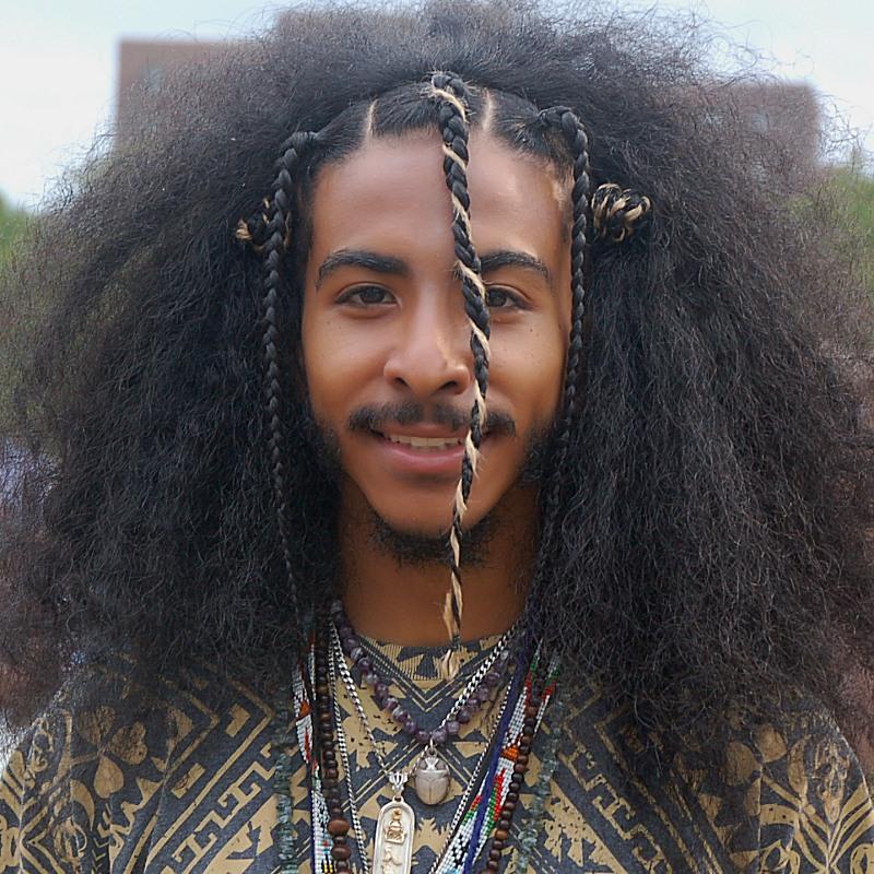 tribal art hairstyle