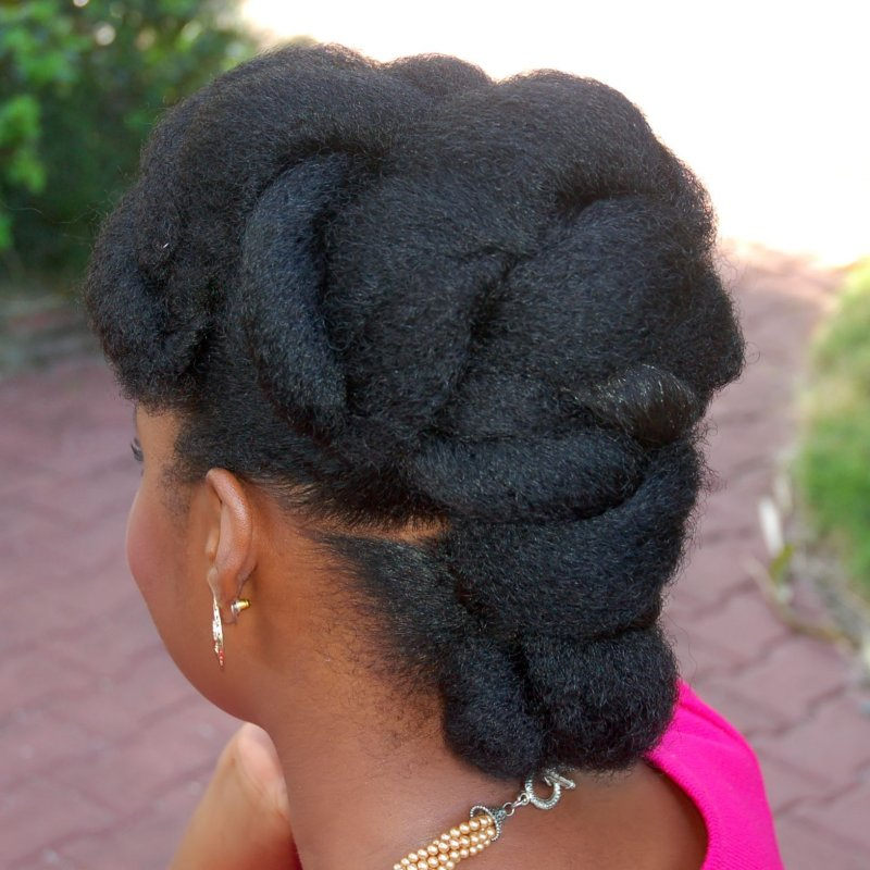Rolled crown a Natural Hairstyle