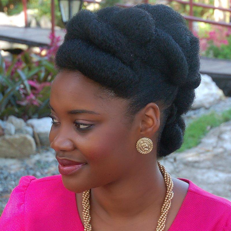 elegant natural hair updo