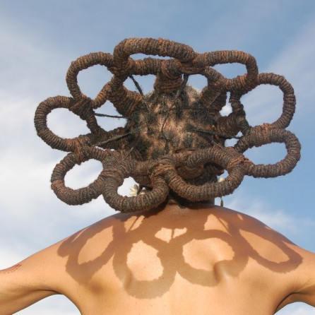 Dreadlock Hairstyles Crown of Locs