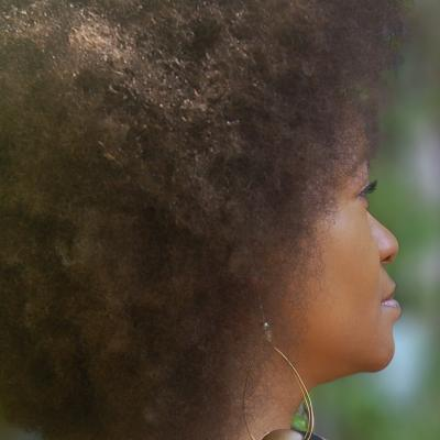 Natural Hair in an Afro