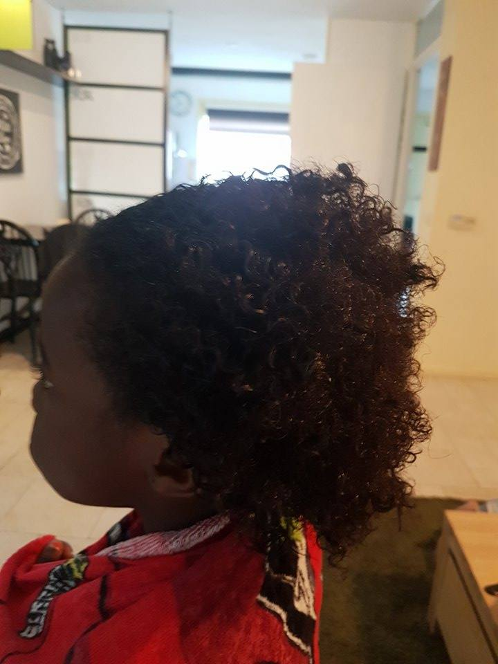 going natural hair care for girls to make a puff - zoe the gymnast