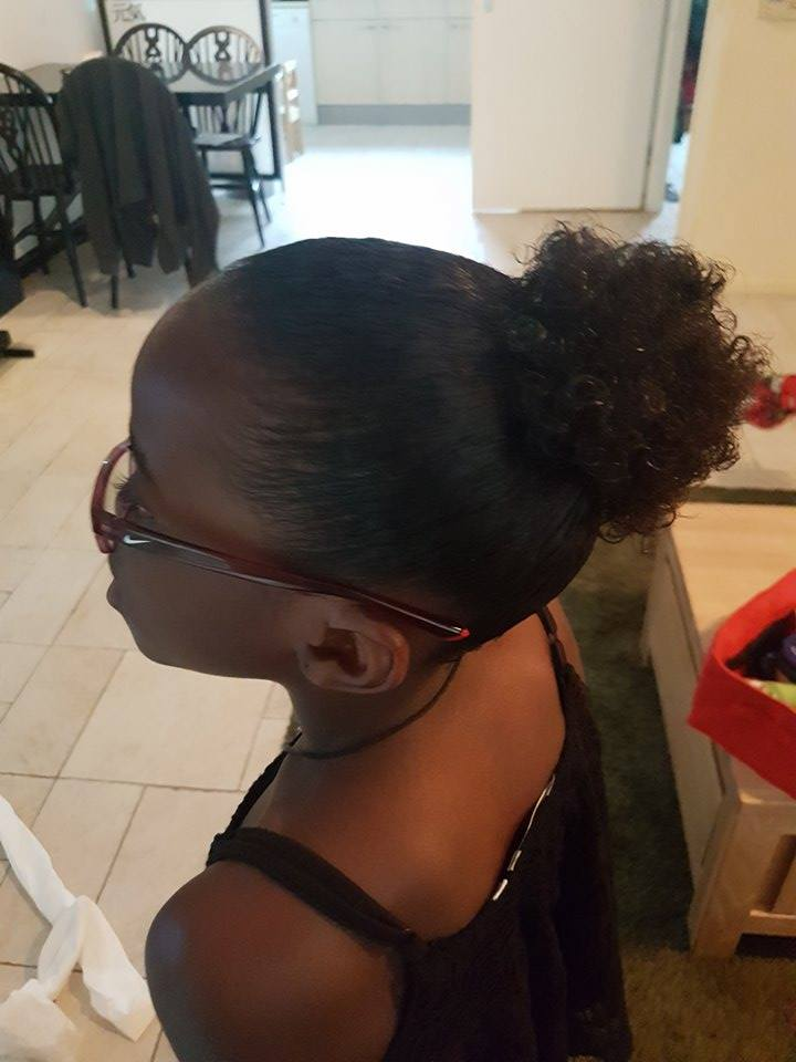 going natural har puff for girls - zoe gymnast