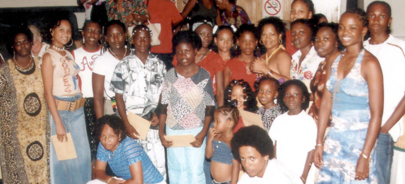 models of 1st natural hair show in Suriname