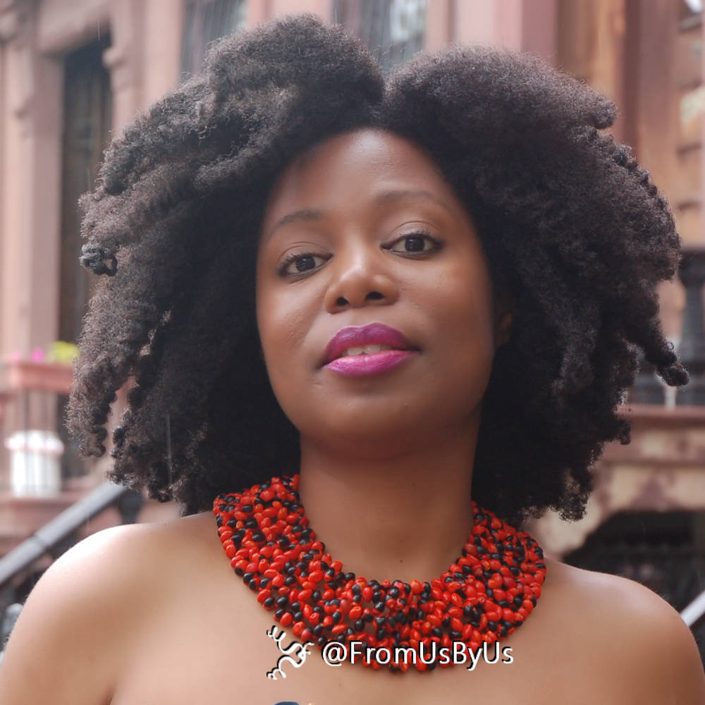 Adina natural aFro for hair show