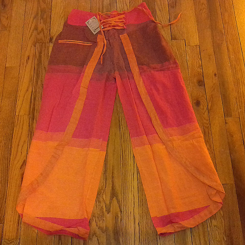 cool afro pants orange