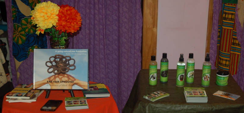 Going Natural products at sister's uptown Bookstore