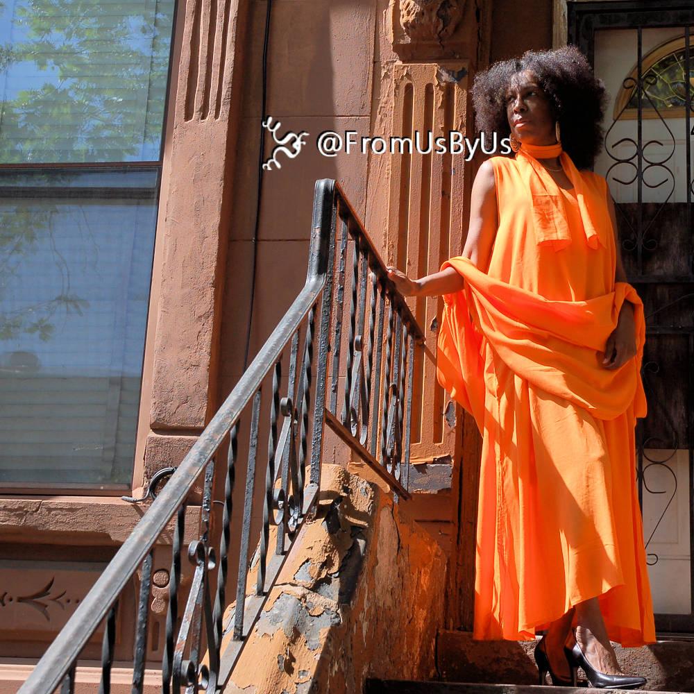 moroccan magic dress orange1 sash scarf