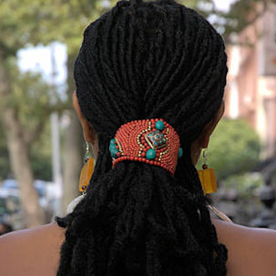 ponytail holder cuff for locs