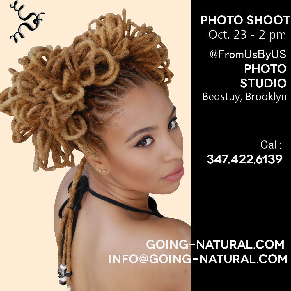 Photo shoot for natural hairstylists and natural hair models