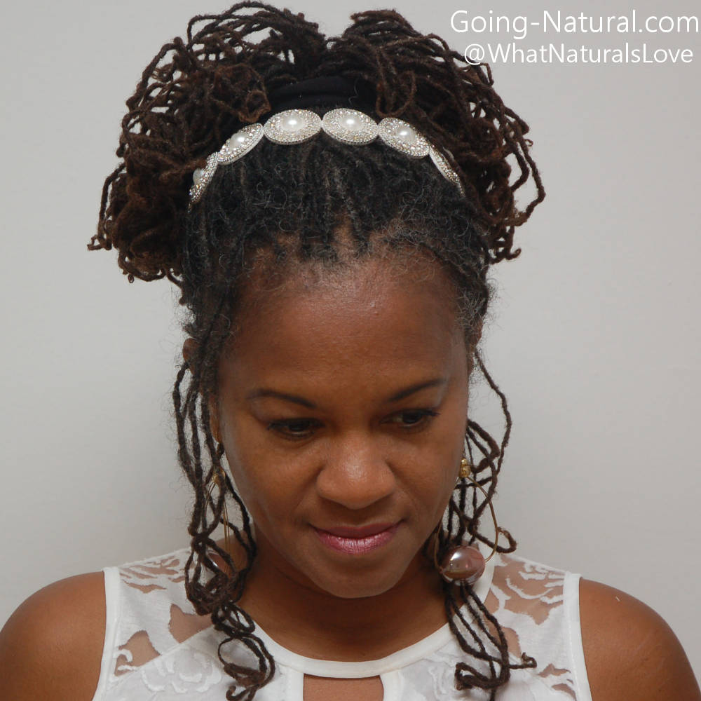 Bridal Style for Braidlocs with Wedding accessory