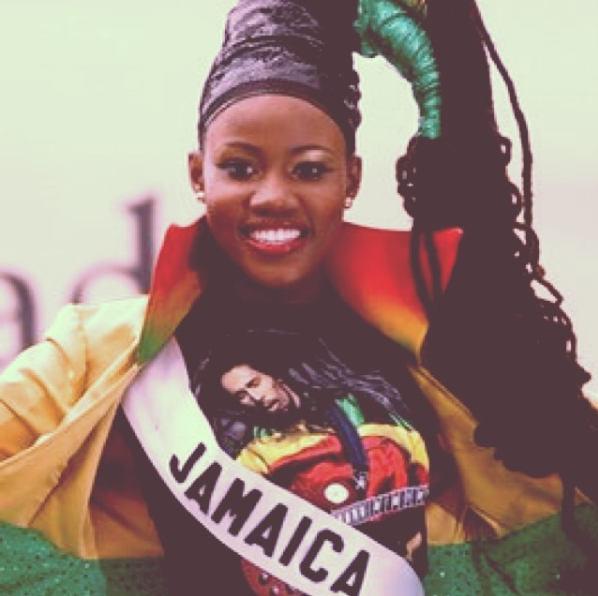 Miss Jamaica 2015 with locs