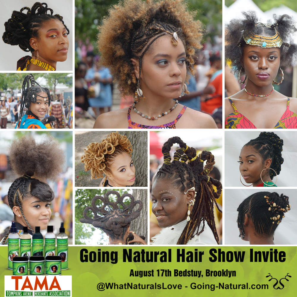 Going Natural's 15th anniversary Hair Show invite