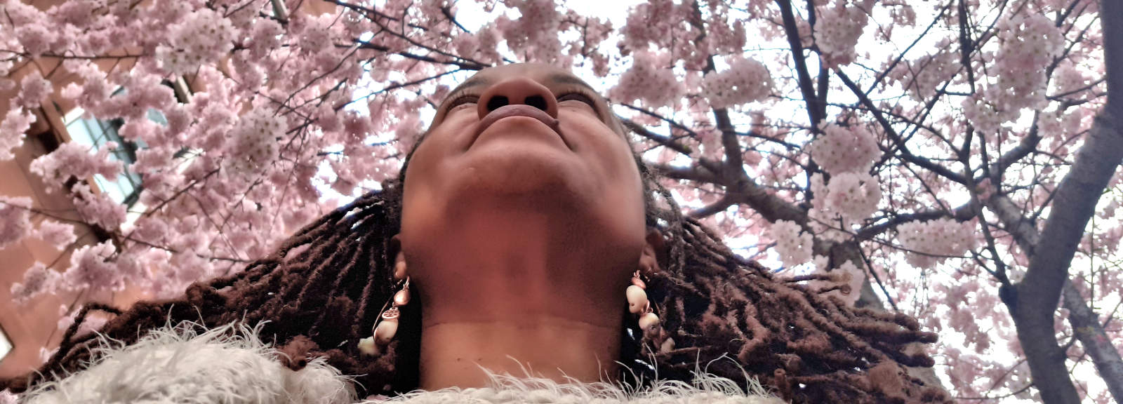 Mireille Liong Braidlocs in the Spring celebrating 15th anniversary of going-natural.com